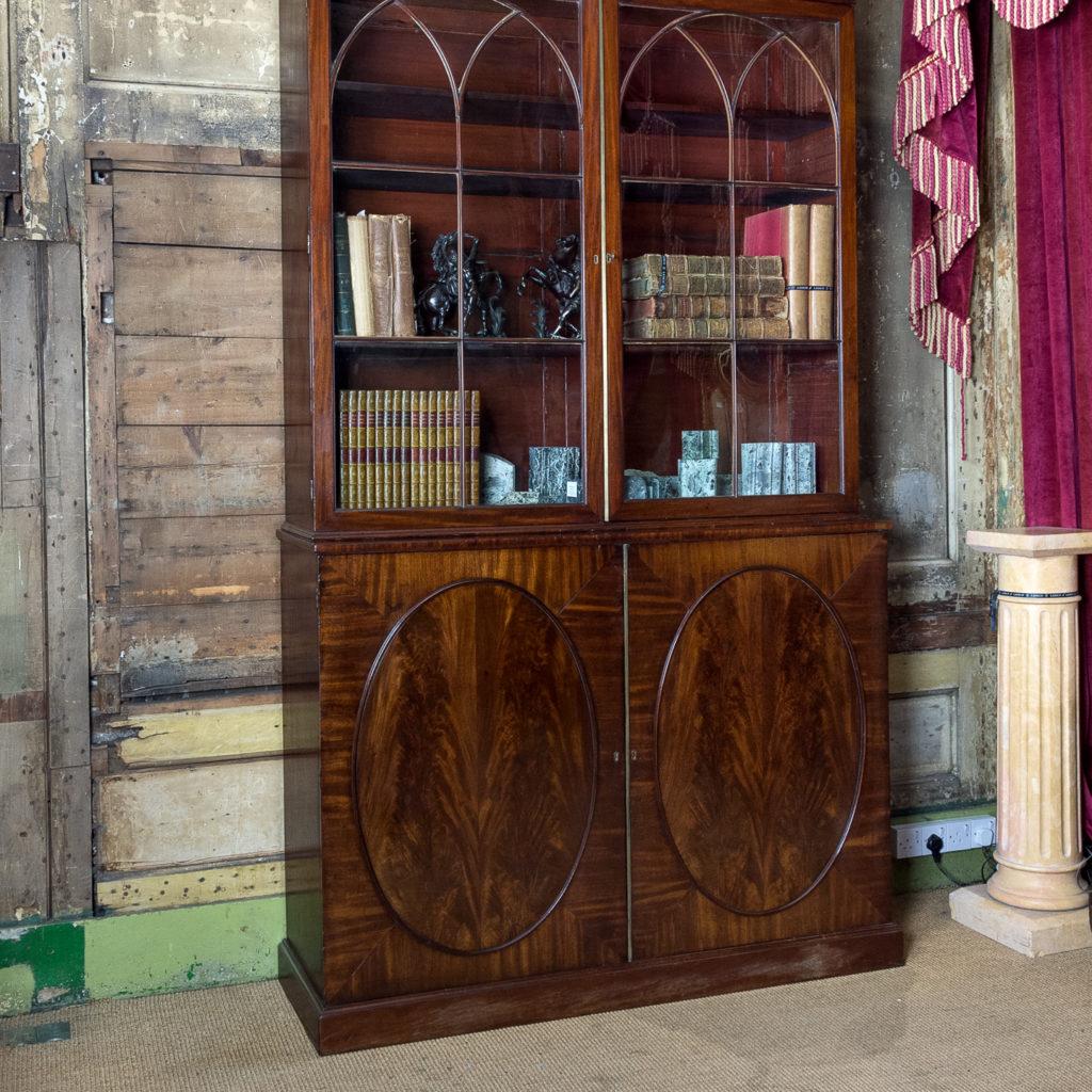 George III mahogany bookcase, -140100