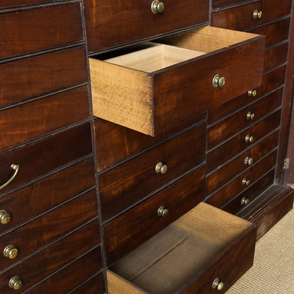 George III mahogany bookcase, -140106