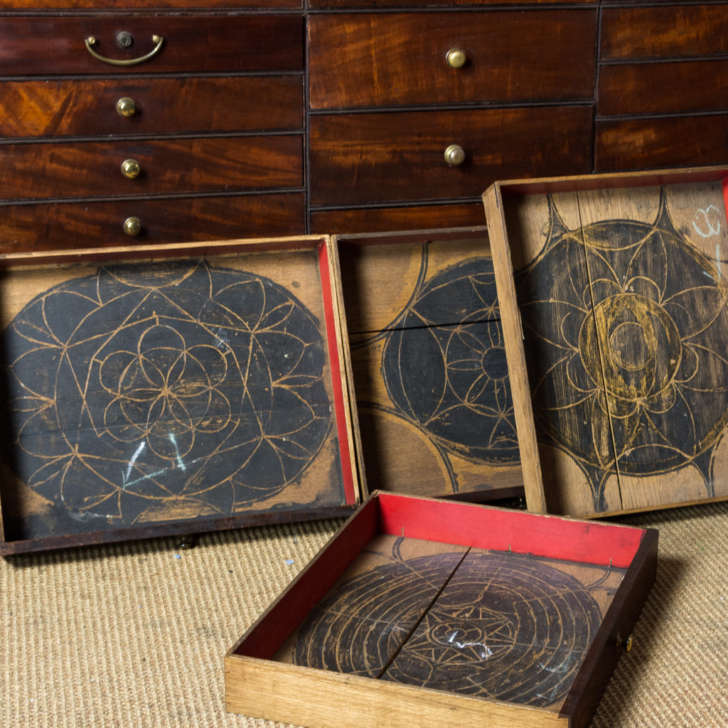 George III mahogany bookcase, -140107
