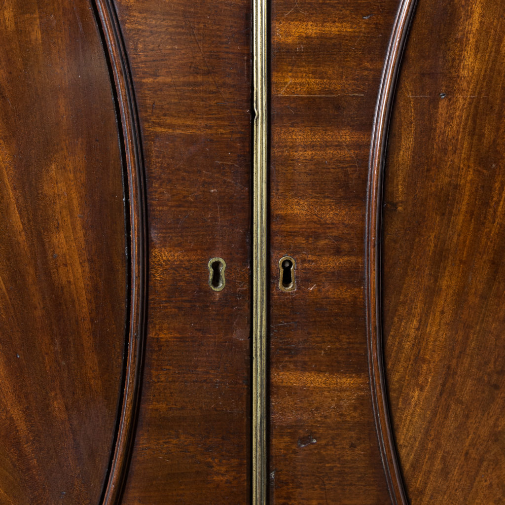 George III mahogany bookcase, -140109