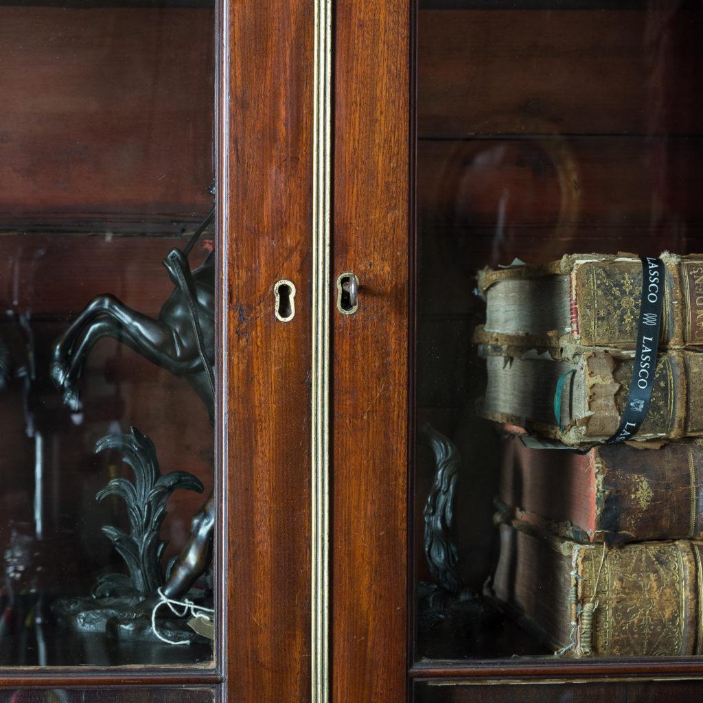 George III mahogany bookcase, -140121