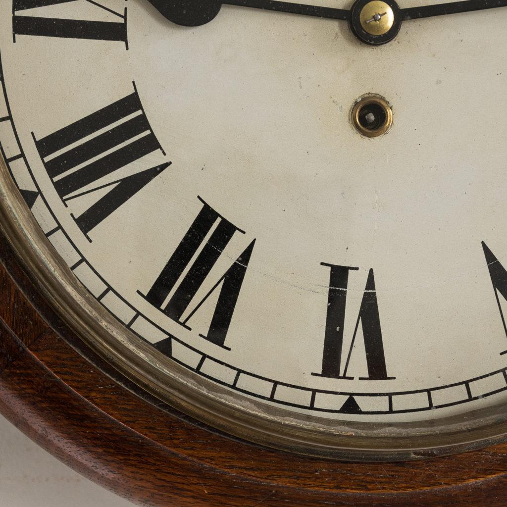 Victorian oak cased dial clock, -140379