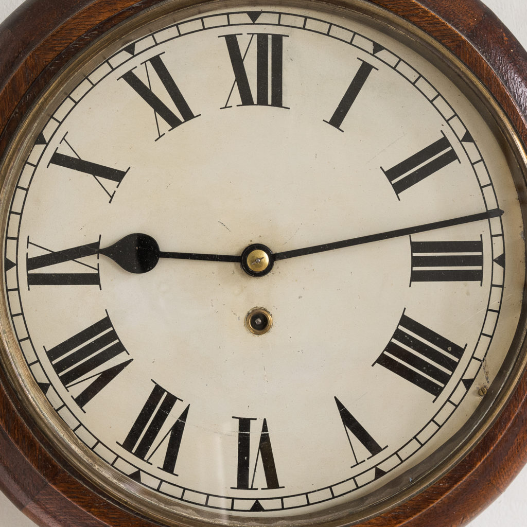 the twelve inch face with Roman numerals