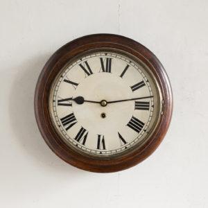 Victorian oak cased dial clock,