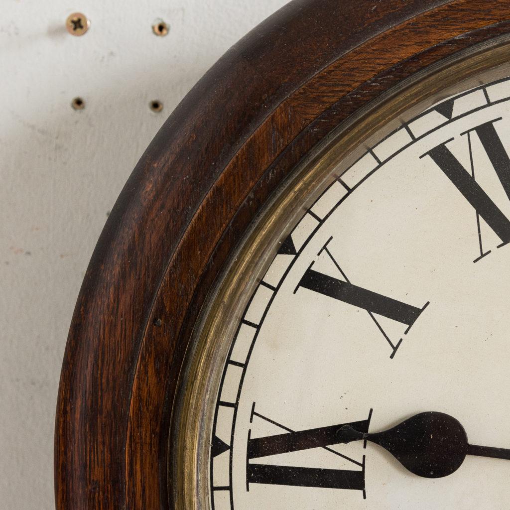Victorian oak cased dial clock, -140378