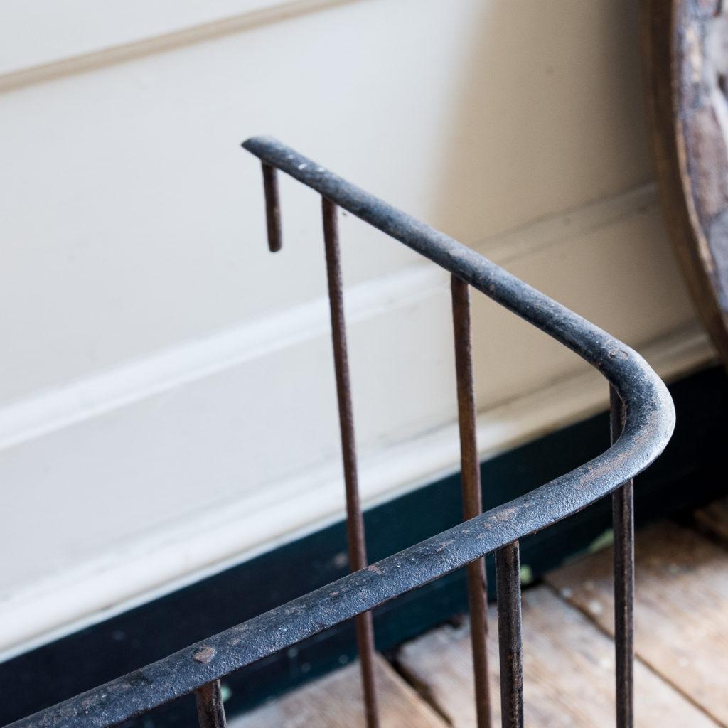 Nineteenth century wrought iron fireplace fender, -139805