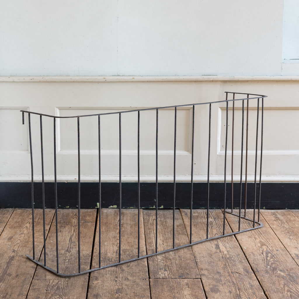 Victorian wrought iron fireplace fender,