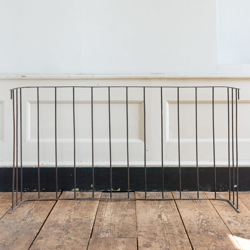 Nineteenth century wrought iron fireplace fender, -139801