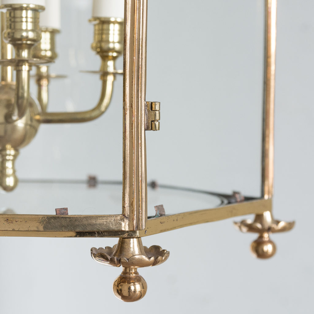 Regency style gilt brass hall lantern,-139967