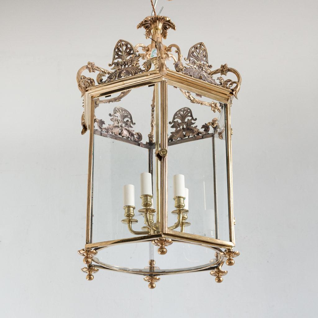 Regency style gilt brass hall lantern,-139968