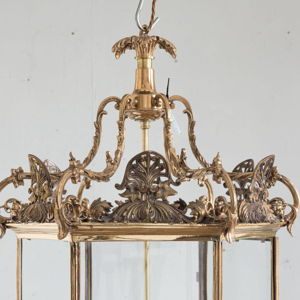 Regency style gilt brass hall lantern,-139960
