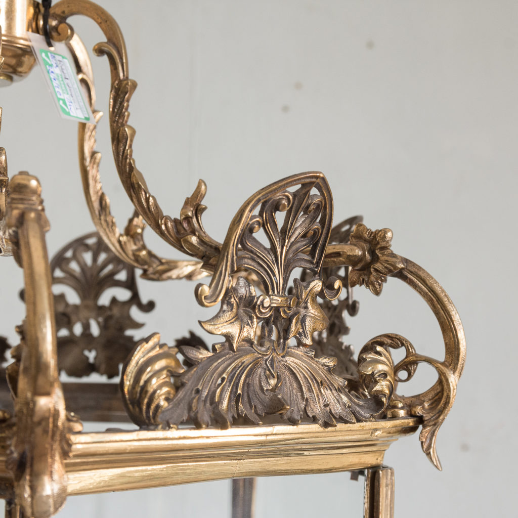 Regency style gilt brass hall lantern,-139962