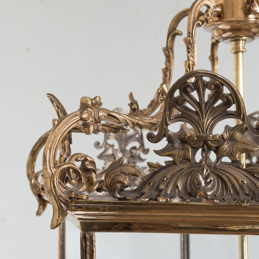 Regency style gilt brass hall lantern,-139961