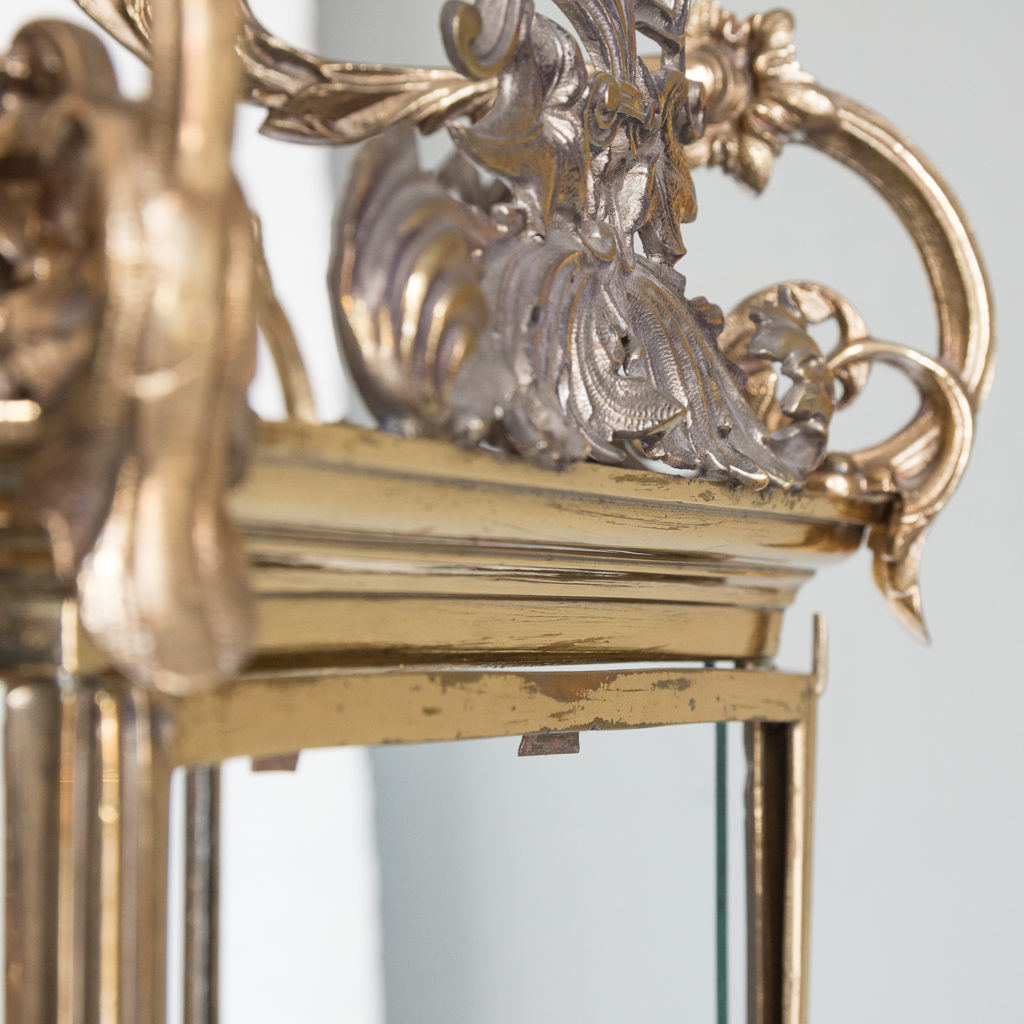 Regency style gilt brass hall lantern,-139963