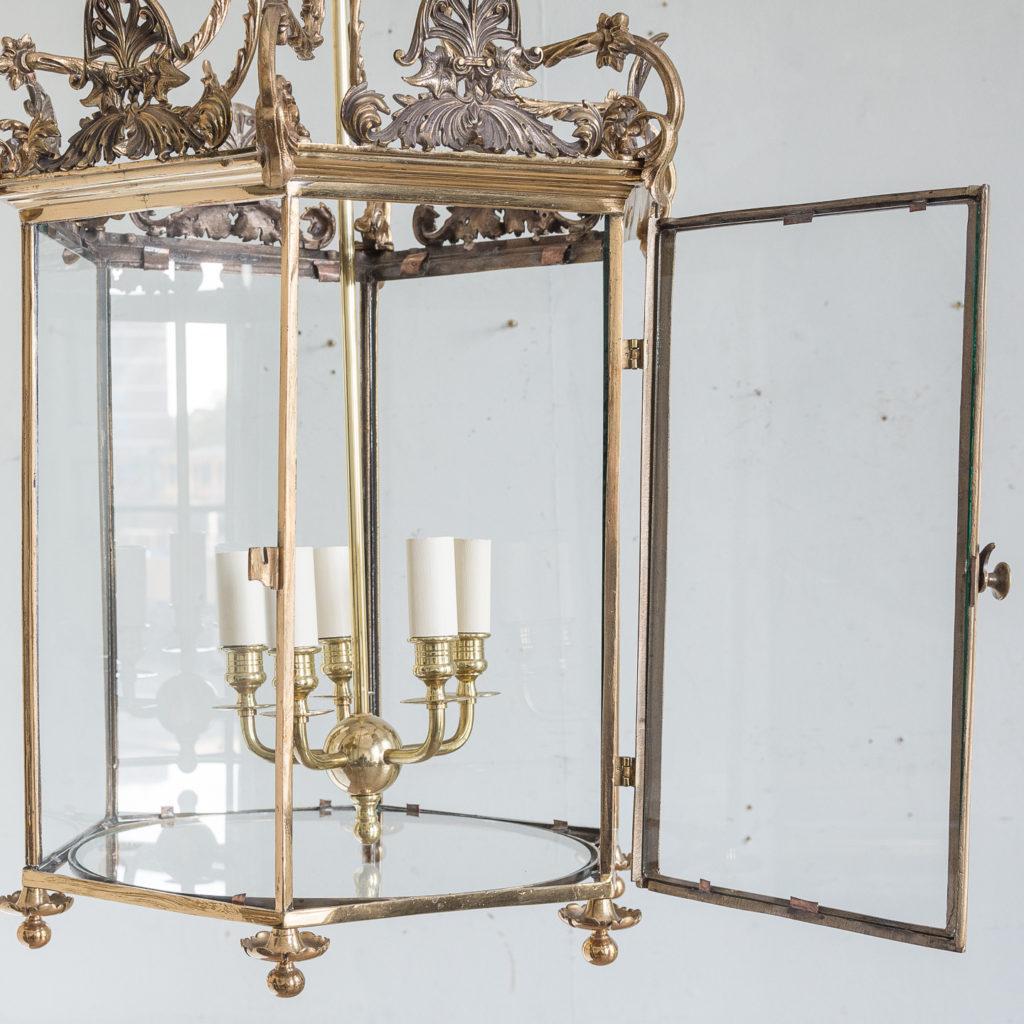 Regency style gilt brass hall lantern,-139966
