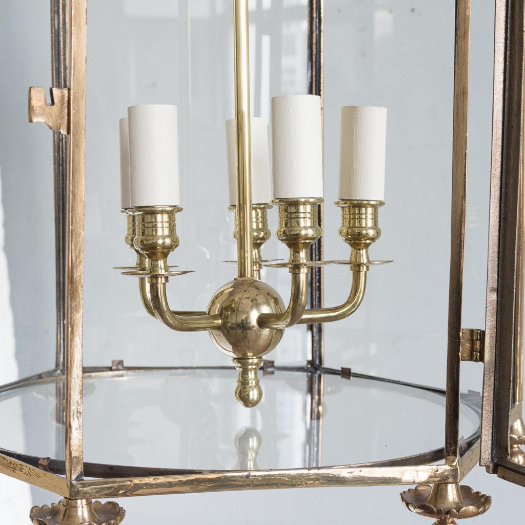 Regency style gilt brass hall lantern,-139965