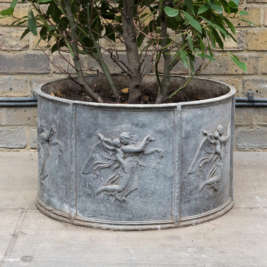 Eighteenth century style lead planter,