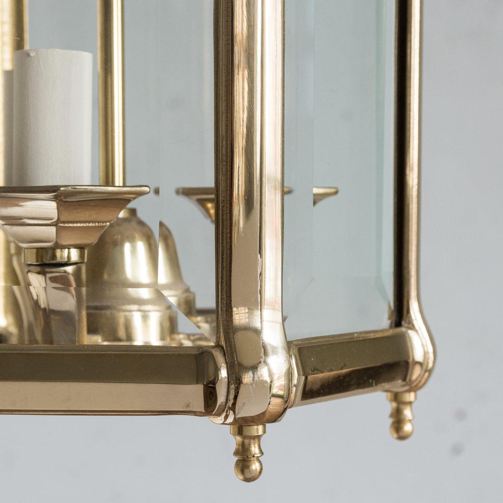 Three small Georgian style brass hall lanterns,-139835