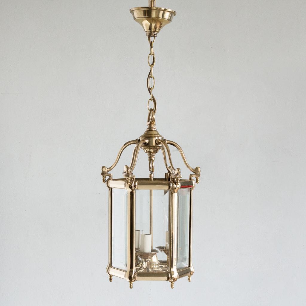 Georgian style brass hall lanterns,