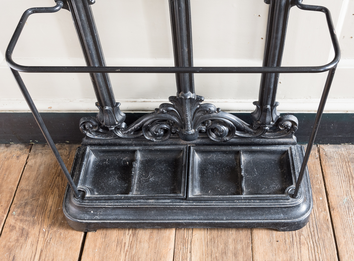 Victorian style cast iron hall stand,-139825