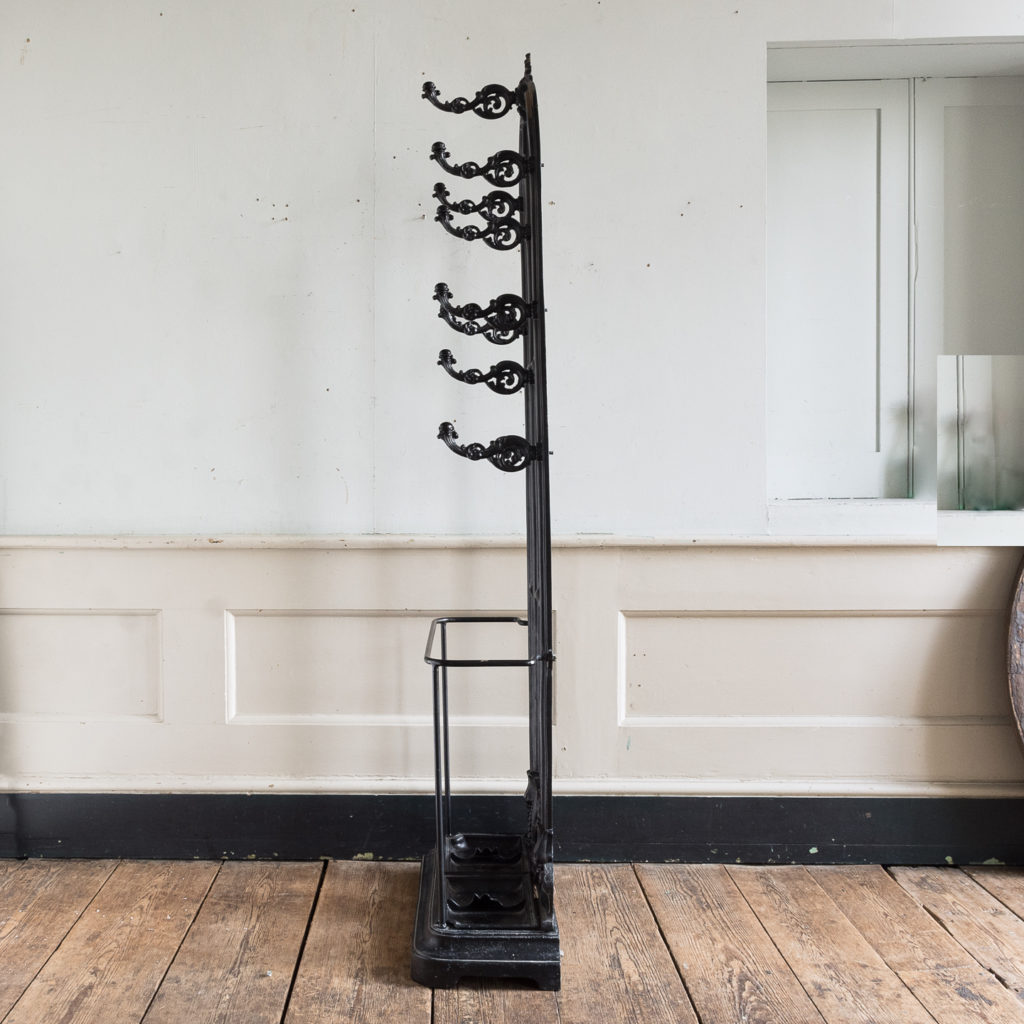 Victorian style cast iron hall stand,-139819