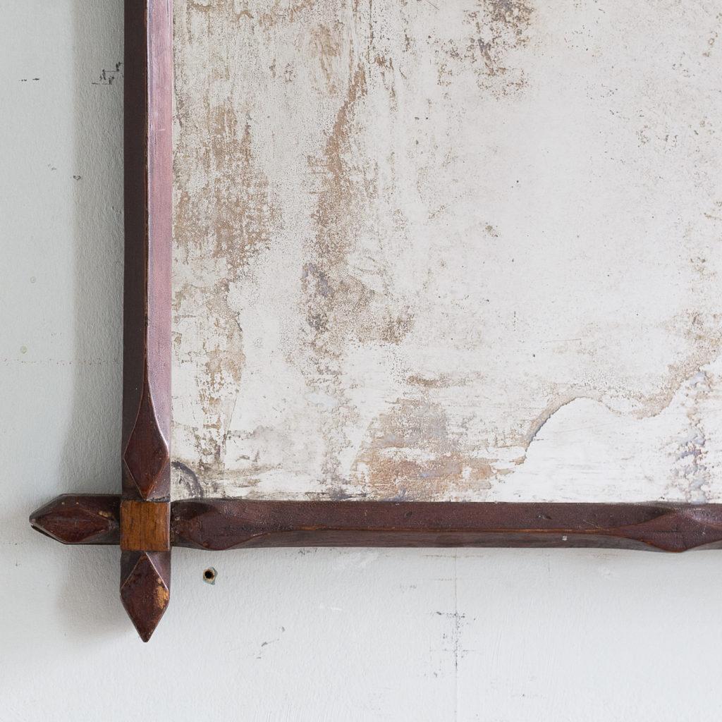 Victorian oak 'Oxford' mirror,-140308