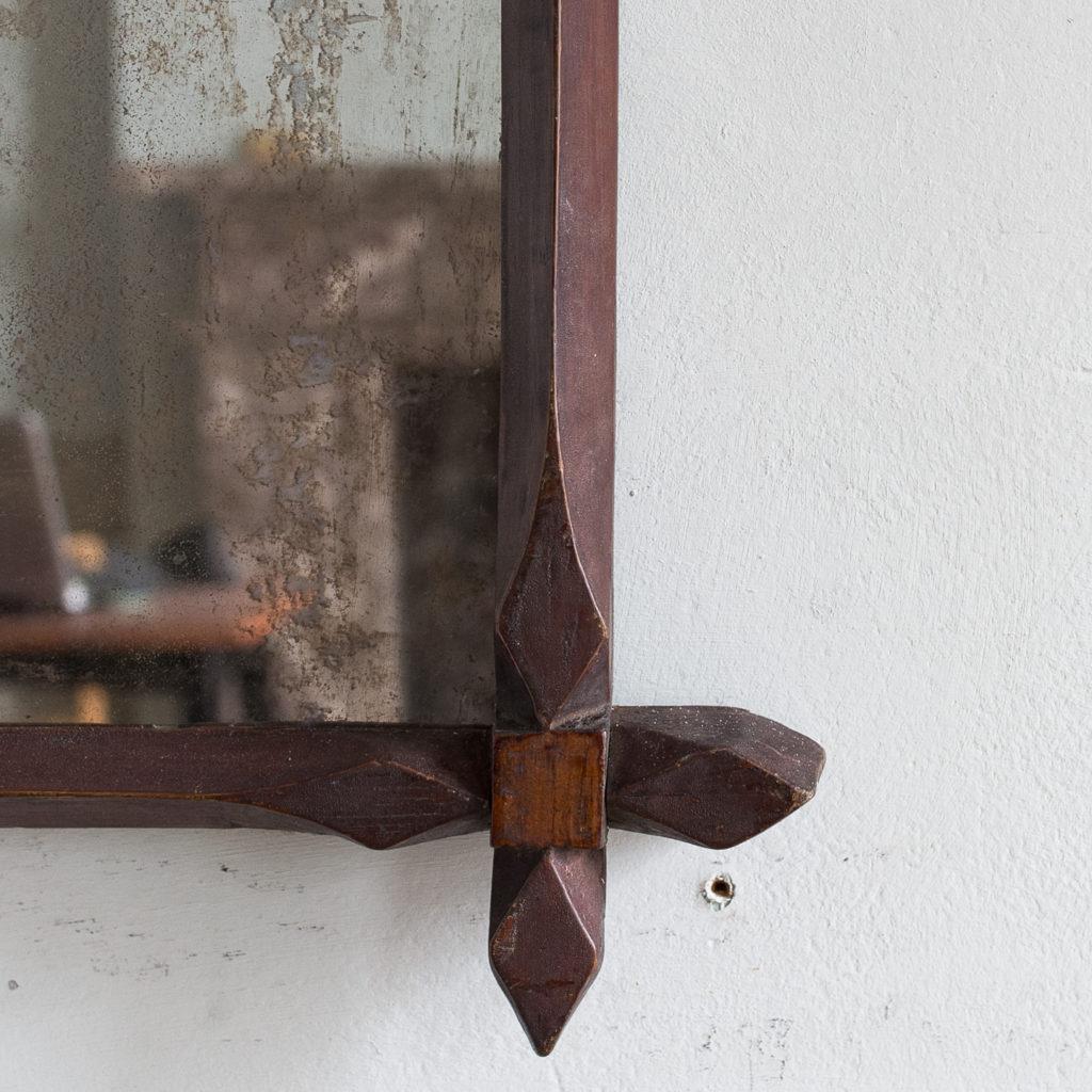 Victorian oak 'Oxford' mirror,-140307