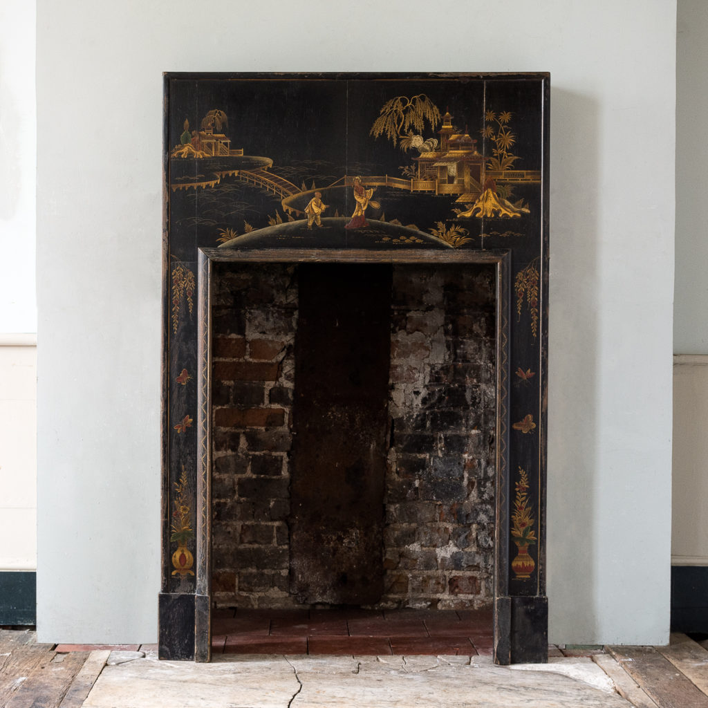 1920s Chinoiserie Revival fire surround,