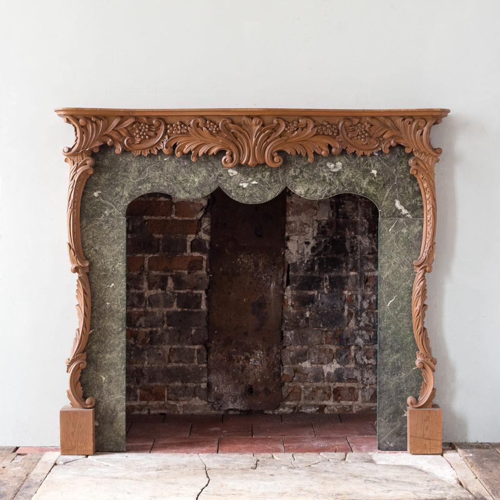 Mid-eighteenth century style Rococo fireplace,