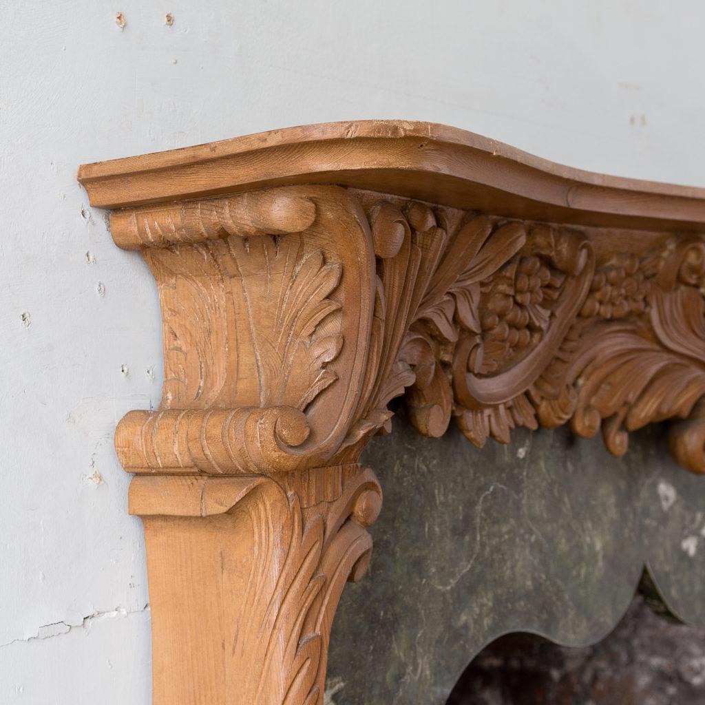 Mid-eighteenth century style Rococo fireplace,-140142