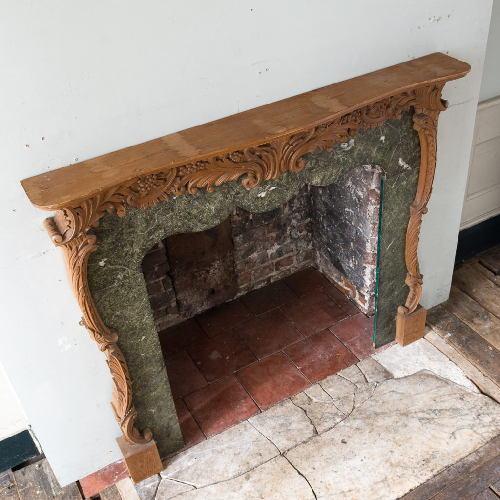 Mid-eighteenth century style Rococo fireplace,-140145