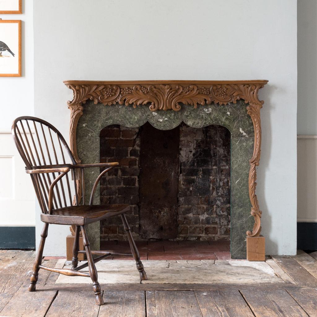 Mid-eighteenth century style Rococo fireplace,-140148