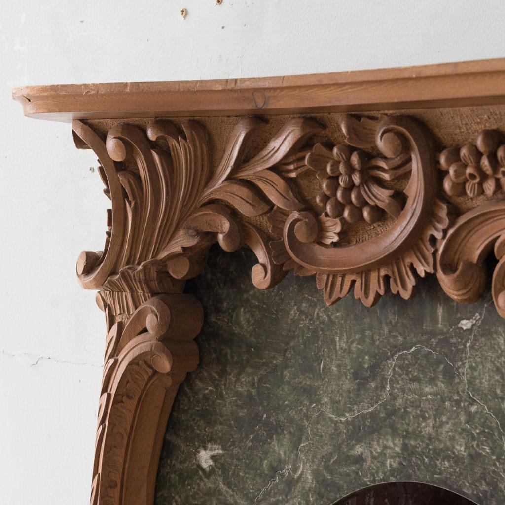 Mid-eighteenth century style Rococo fireplace,-140137