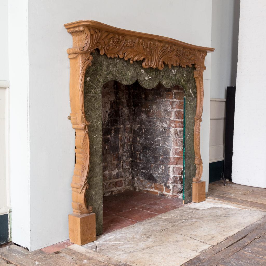 Mid-eighteenth century style Rococo fireplace,-140141