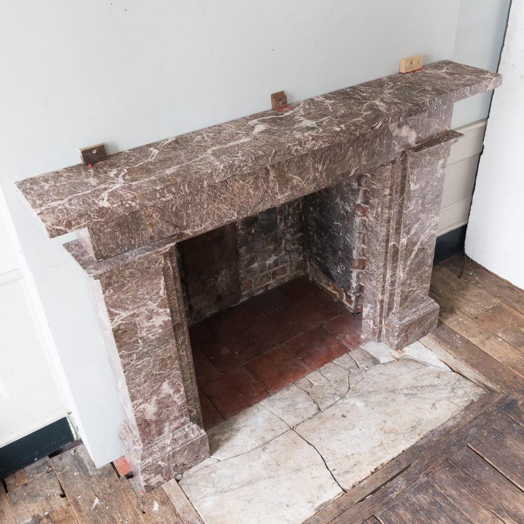 William IV Ashburton marble fireplace,-140017