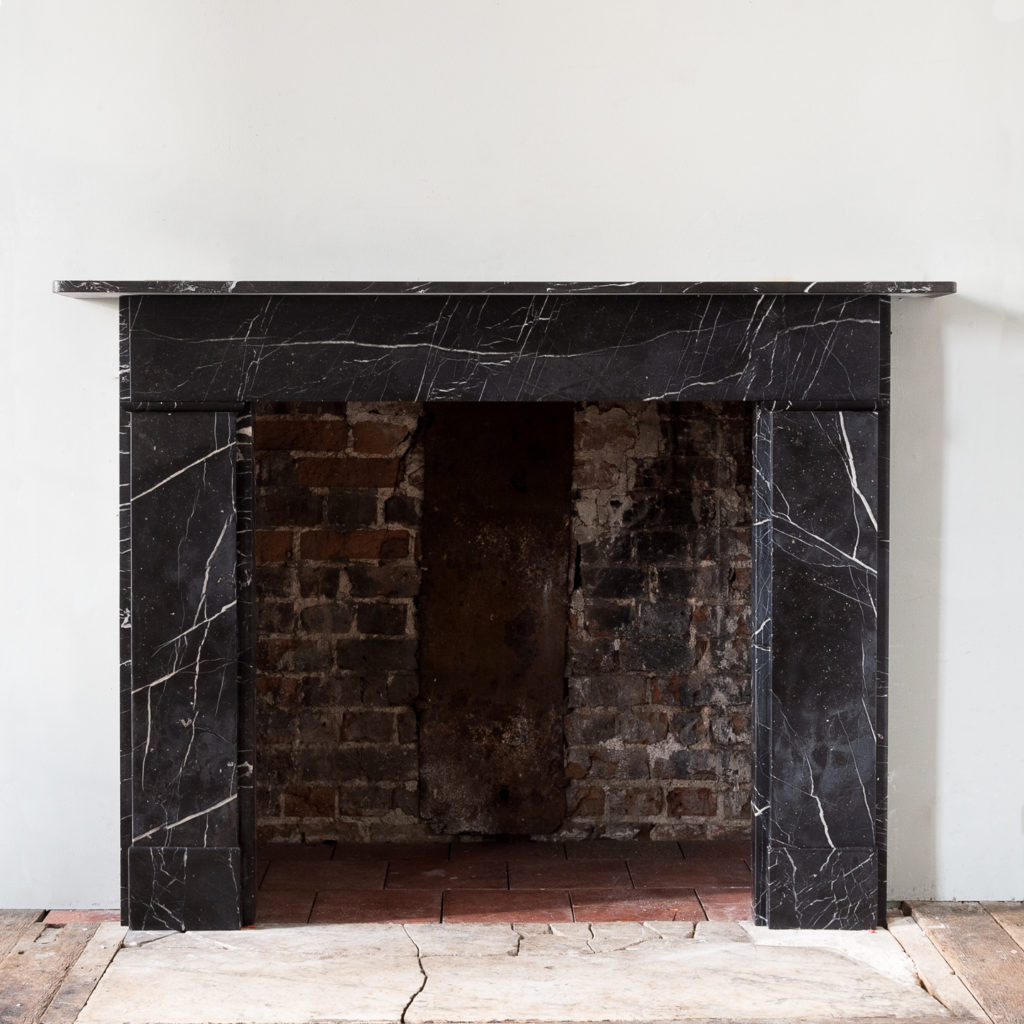 Nero Marquina fireplace,