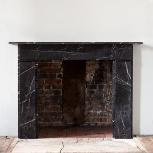 Nero Marquina fireplace,