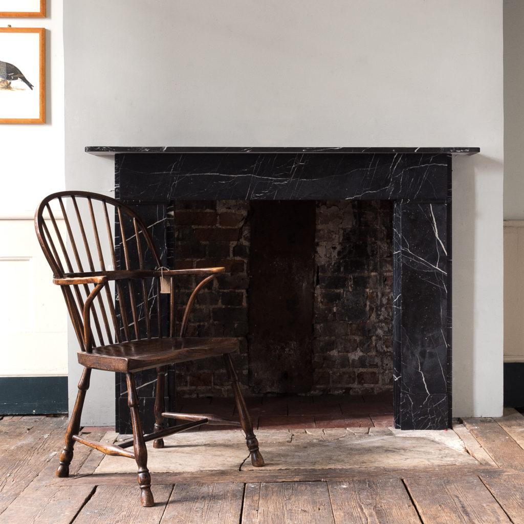 Nineteenth century style Nero Marquina fireplace,-140158