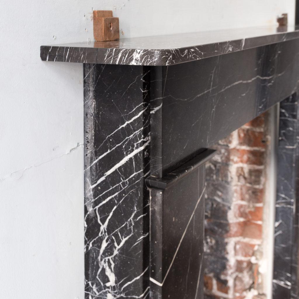 Nineteenth century style Nero Marquina fireplace,-140159