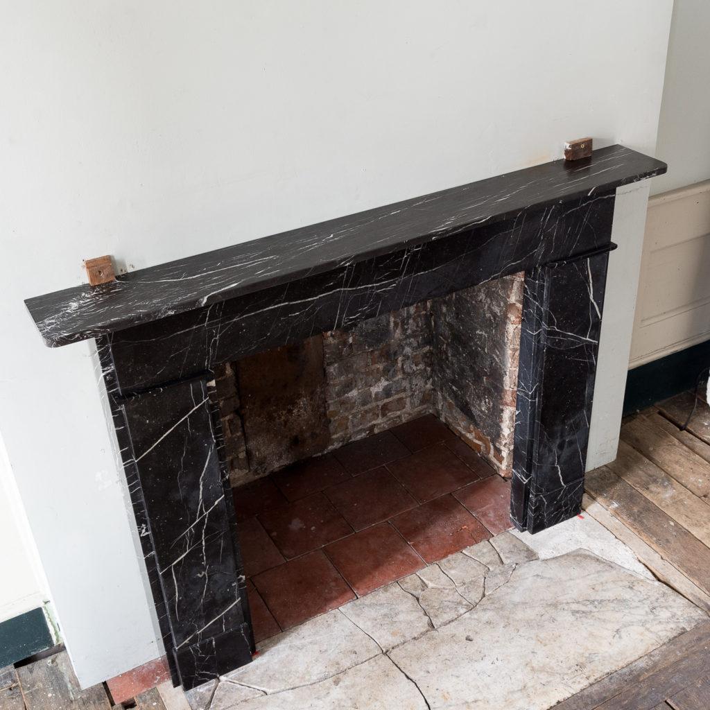 Nineteenth century style Nero Marquina fireplace,-140161