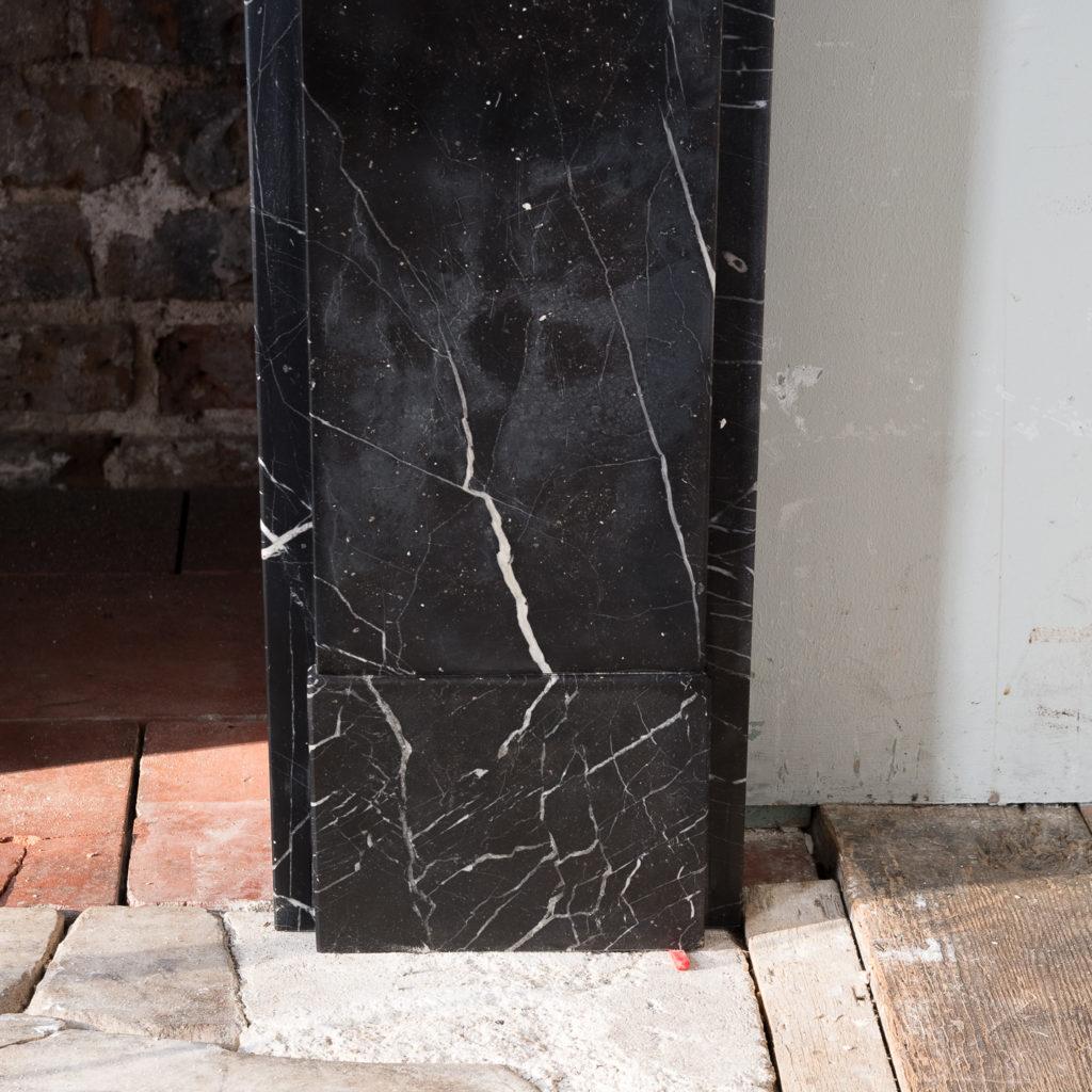 Nineteenth century style Nero Marquina fireplace,-140152