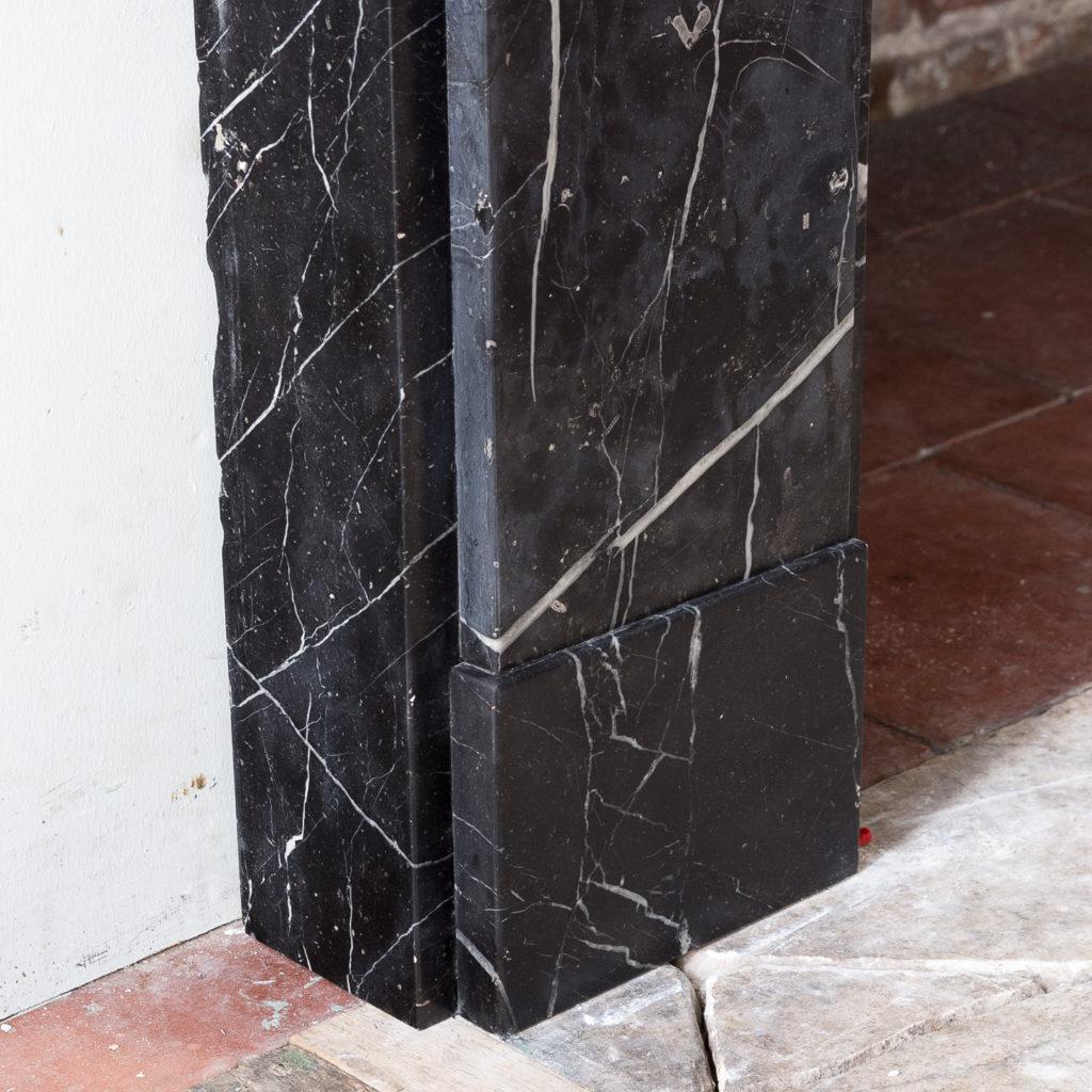 Nineteenth century style Nero Marquina fireplace,-140154