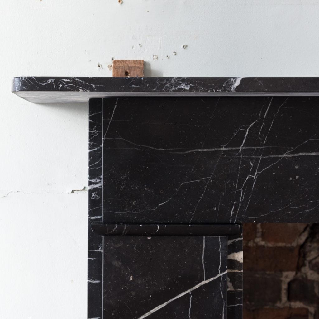 Nineteenth century style Nero Marquina fireplace,-140155