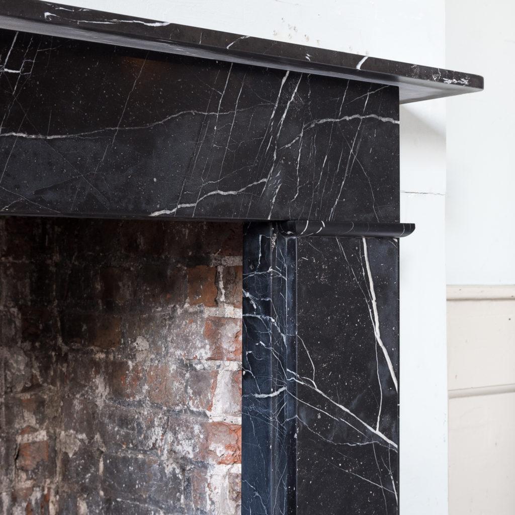 Nineteenth century style Nero Marquina fireplace,-140156