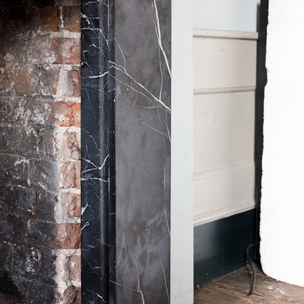 Nineteenth century style Nero Marquina fireplace,-140157