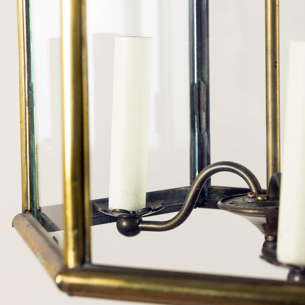 Twentieth century brass hall lantern, -140446