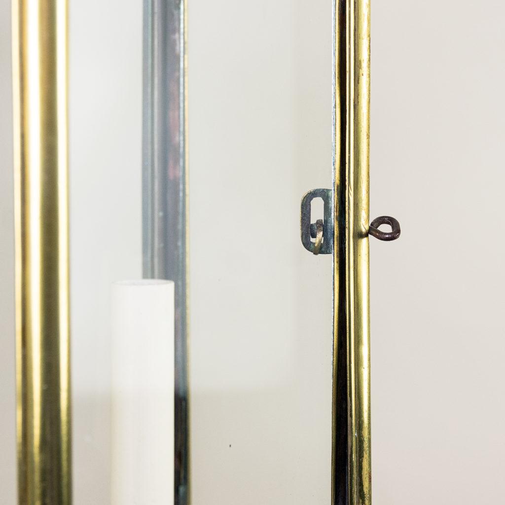 Twentieth century brass hall lantern, -140448