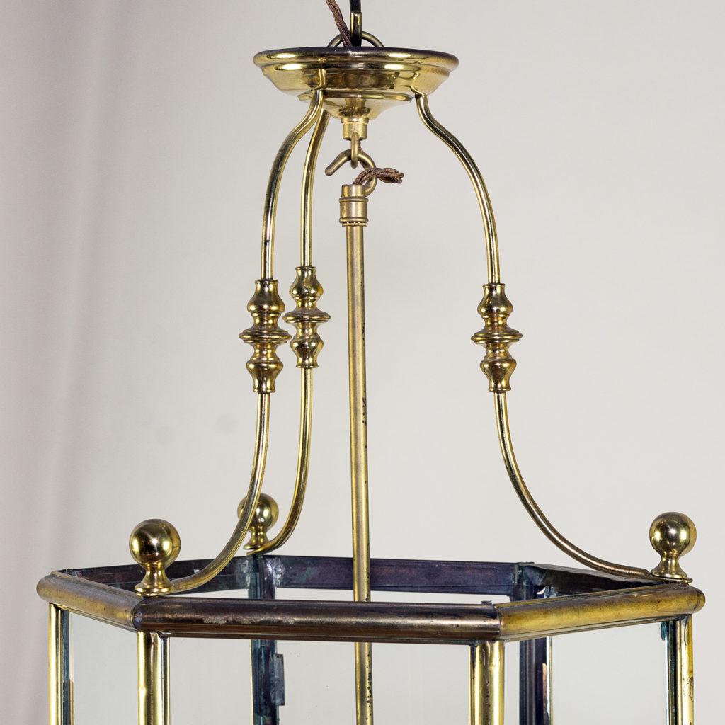 Twentieth century brass hall lantern, -140443