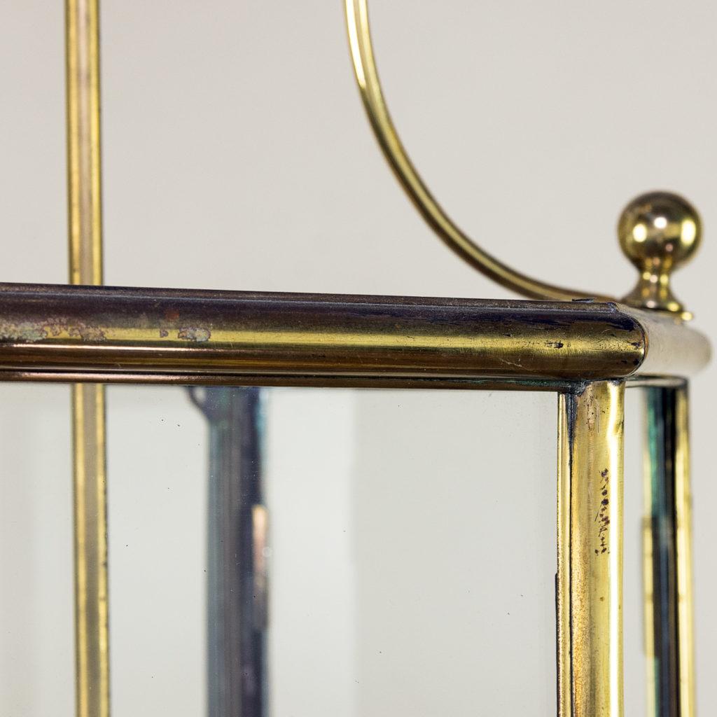 Twentieth century brass hall lantern, -140442