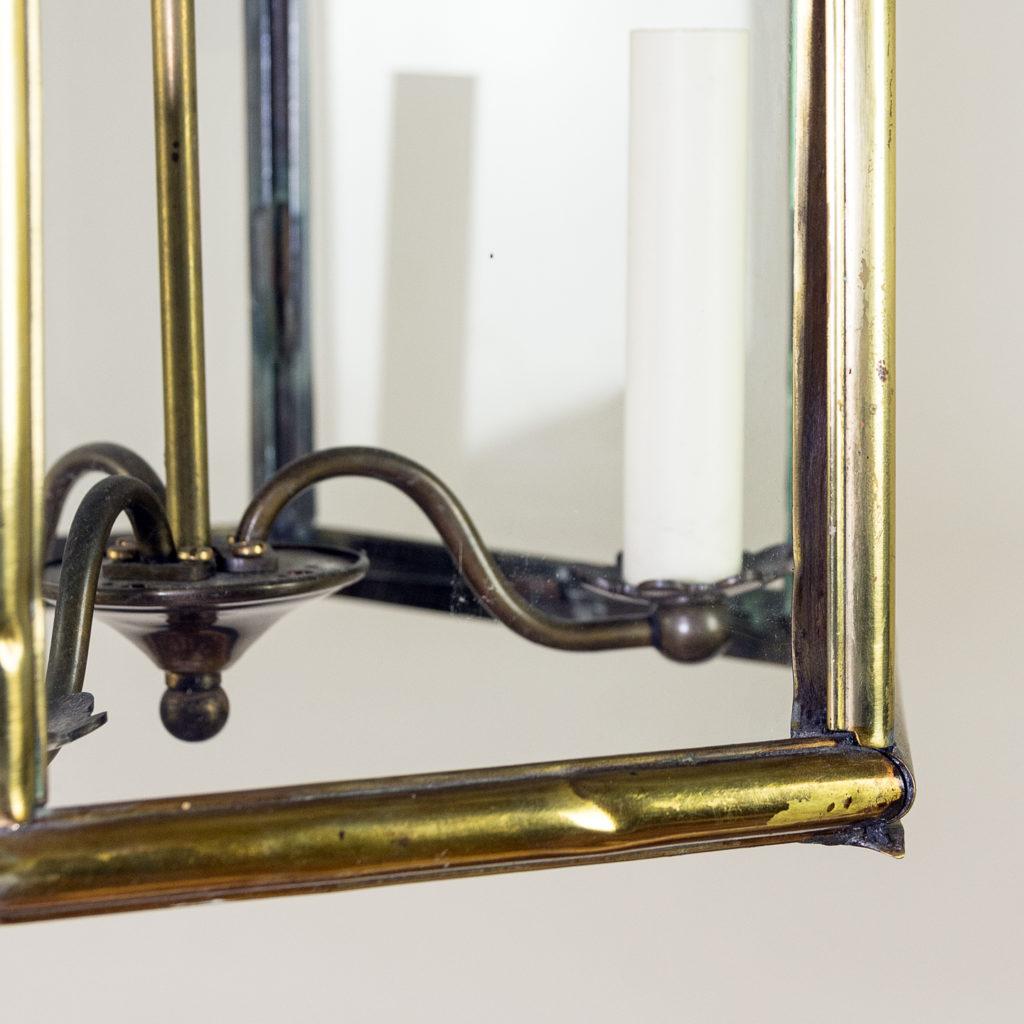 Twentieth century brass hall lantern, -140445